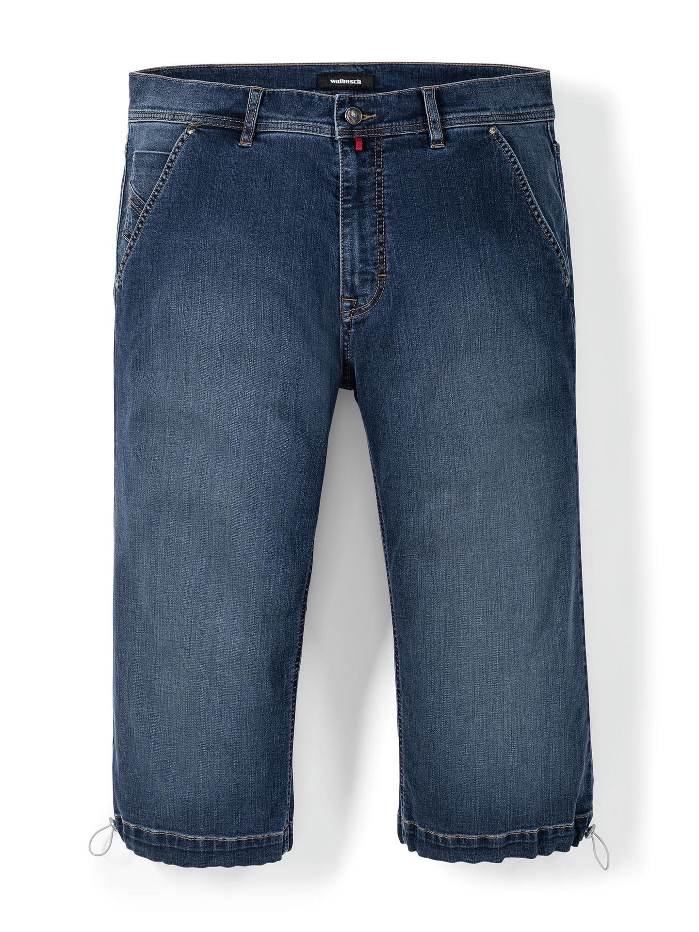 Walbusch Herren Siebenachtel-Jeans Regular Fit Blau einfarbig flexibler Bund 24, 25, 26, 27, 28, 29, 48, 50, 52, 54, 56, 58 24-3967-3_MV75556