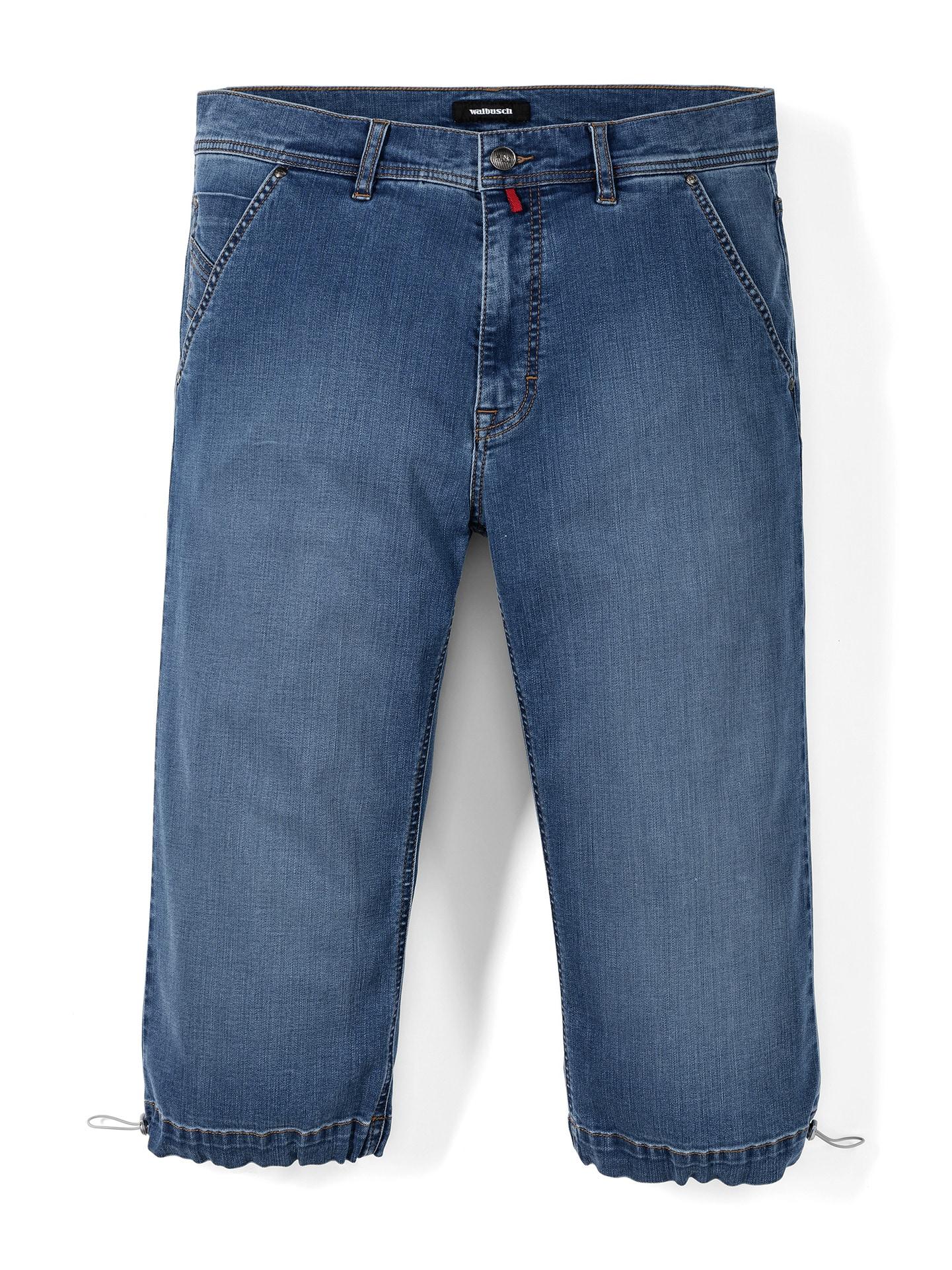 Walbusch Herren Siebenachtel Jeans Regular Fit Hellblau einfarbig flexibler Bund 24, 25, 26, 27, 28, 29, 48, 50, 52, 54, 56, 58 24-3968-0_MV75555
