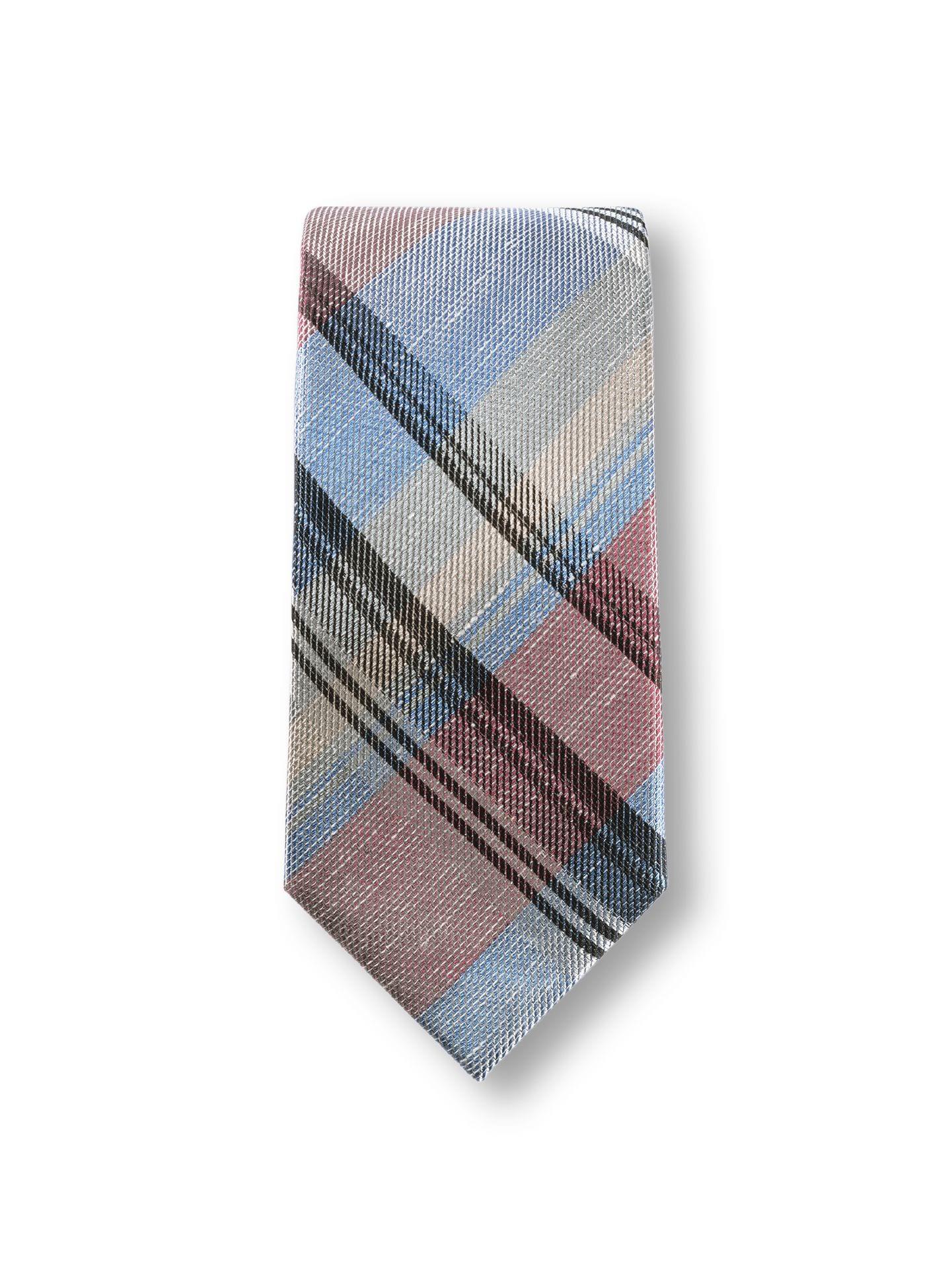 Walbusch Herren Karo-Krawatte Leinenmix Größe 01