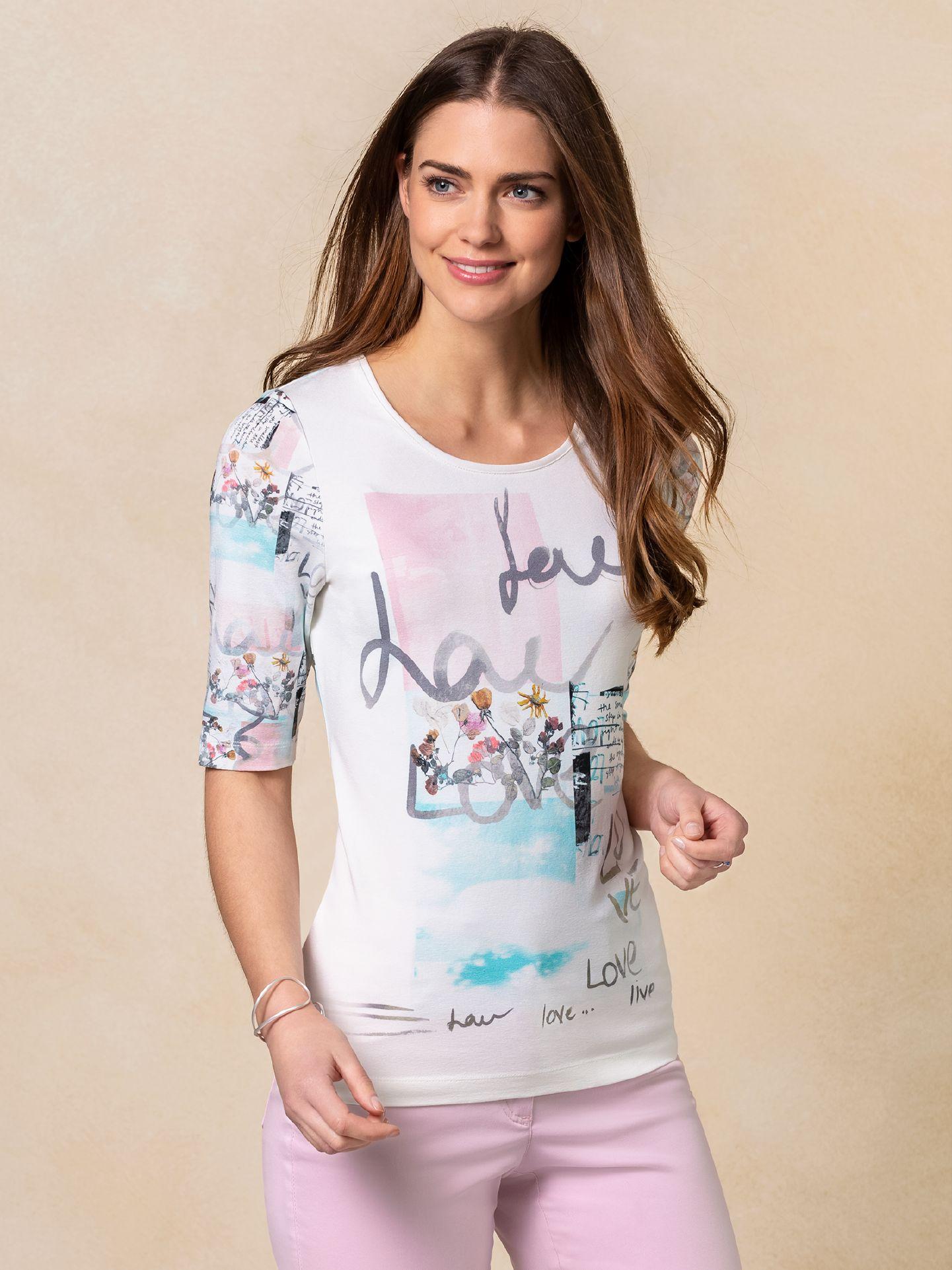 Walbusch Damen Shirt Bloomsbury in normalen Größen gemustert Weiß gemustert 36, 38, 40, 42, 44, 46, 48/50, 52/54