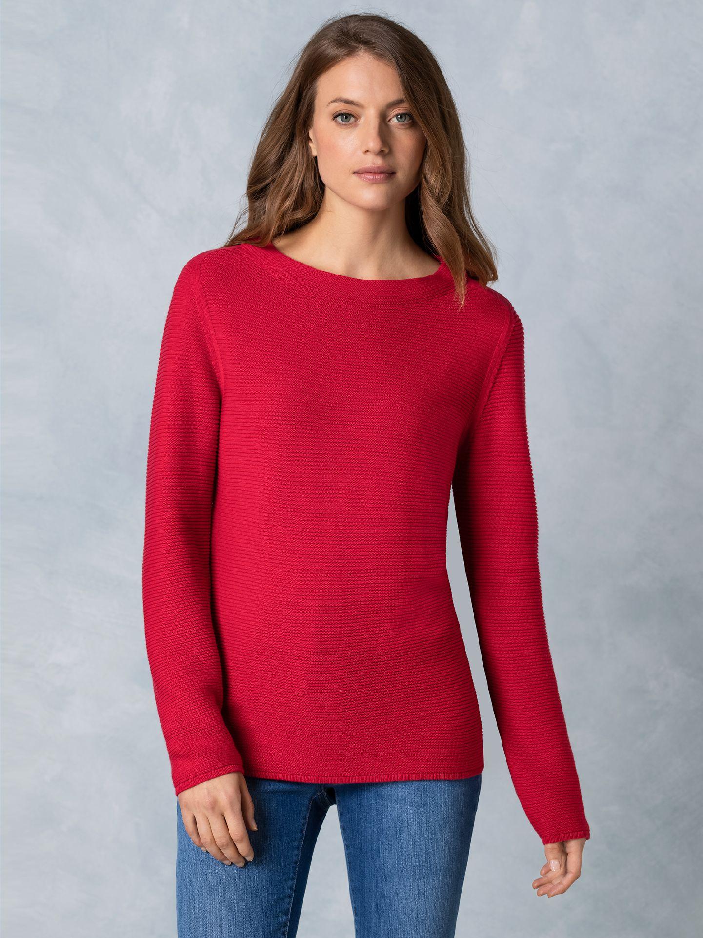 Walbusch Damen Pullover Rot einfarbig   Gr. 36, 38, 40, 42, 44, 46, 48/50, 52/54 36, 38, 40, 42, 44, 46, 48/50, 52/54
