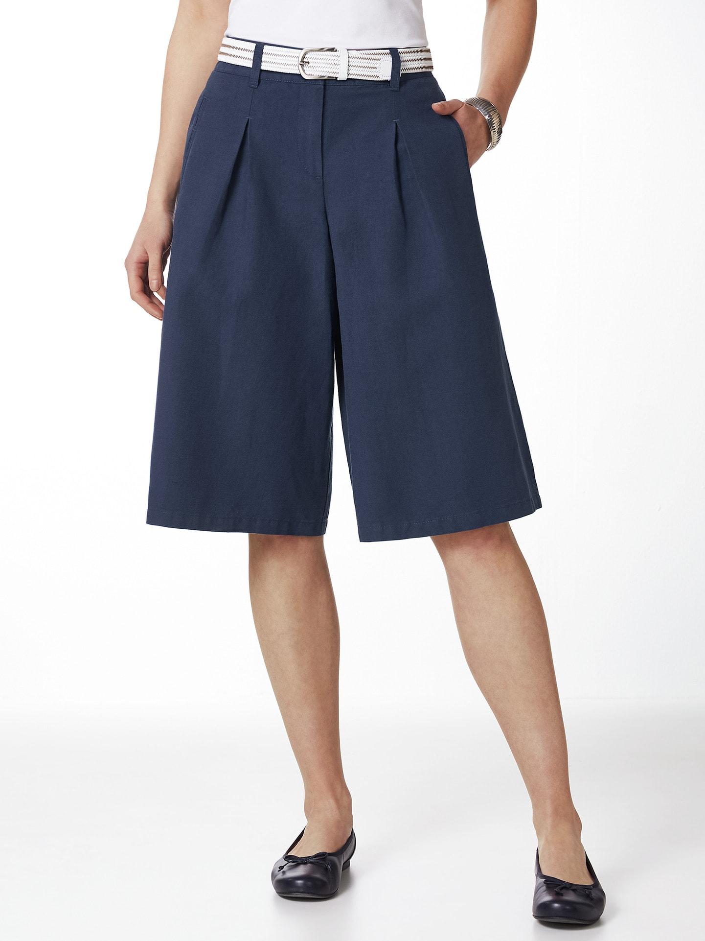 Walbusch Damen Leinen Hosenrock Größe 18