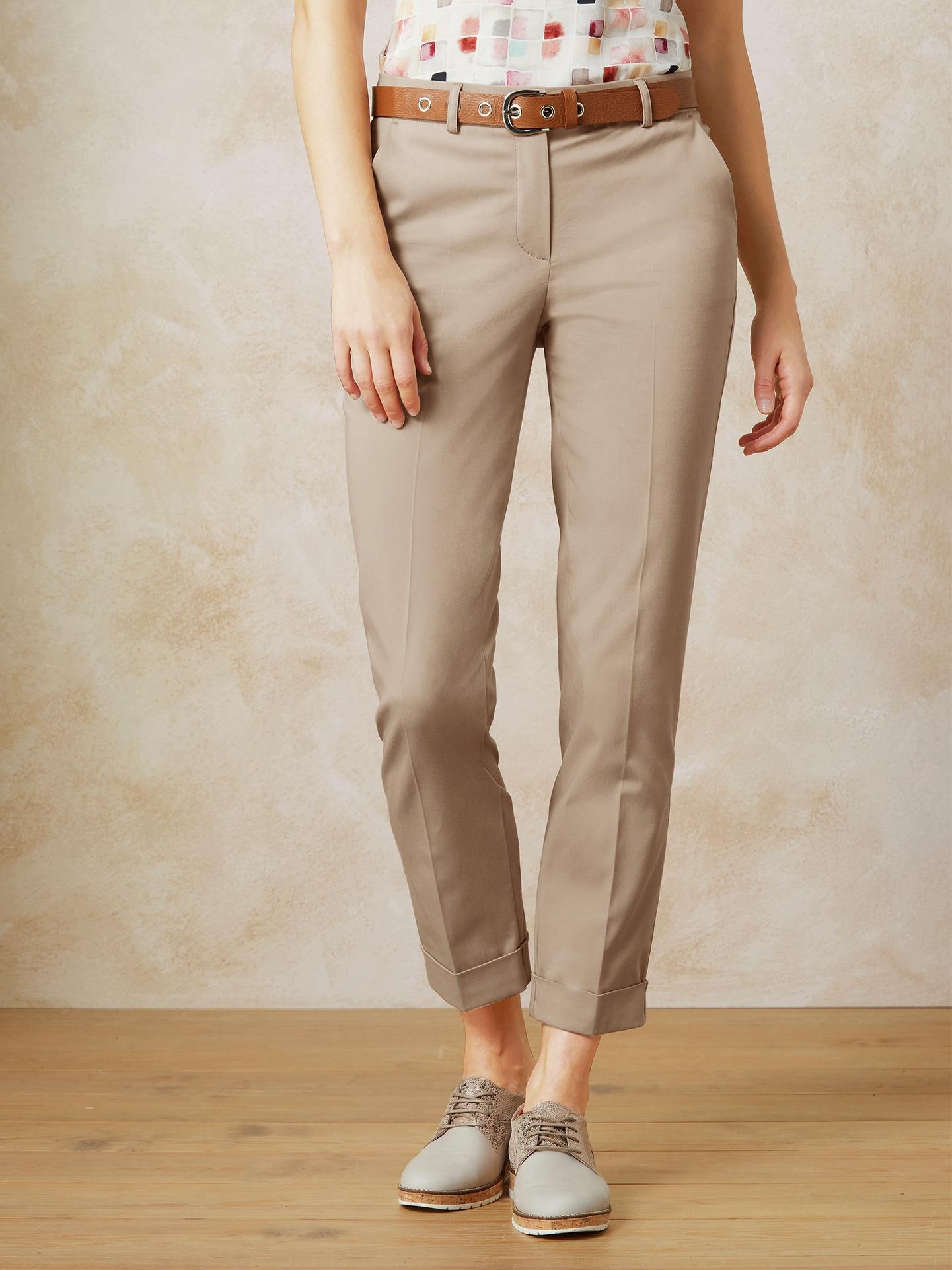 Walbusch Damen 7/8-Hose Soft-Baumwolle Größe 24