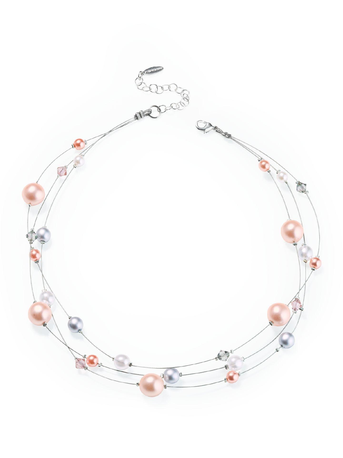 Walbusch Damen Perlenkette 3 in 1 Rosa Größe 01