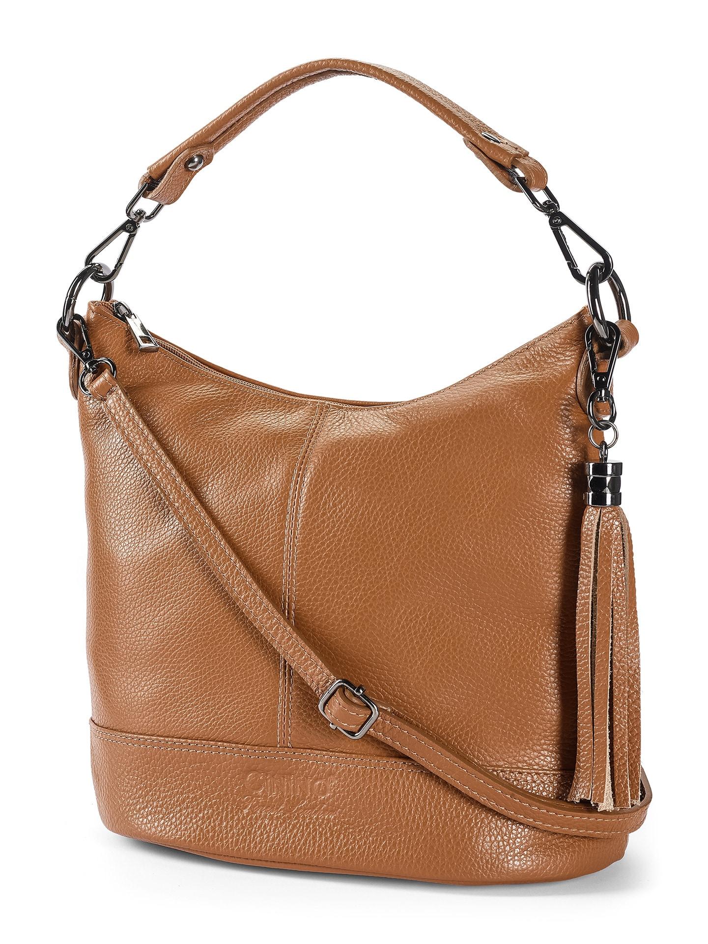 Walbusch Damen Lederhandtasche Standfest einfarbig Cognac 01 49-0051-1