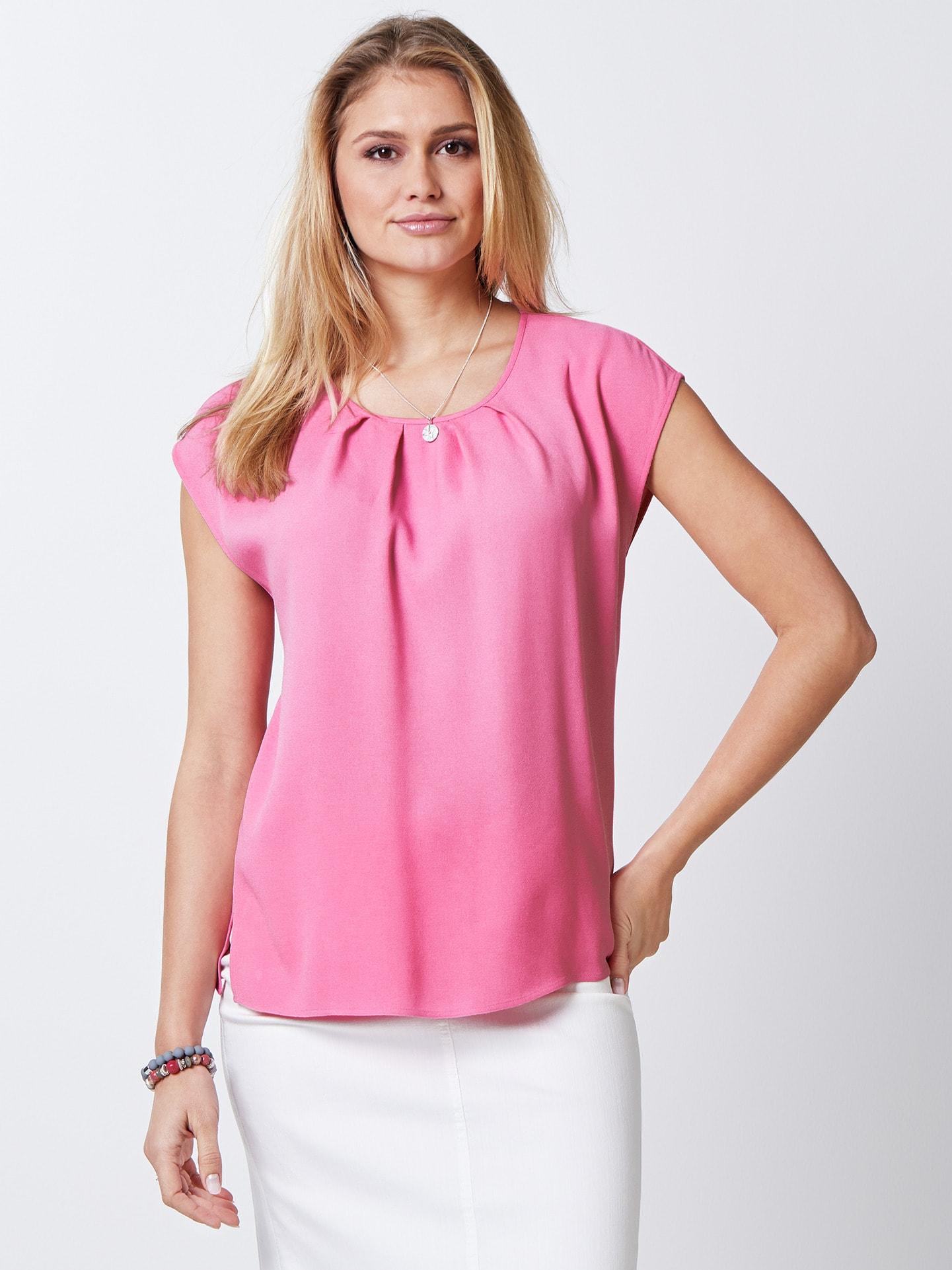 Walbusch Damen Blusentop einfarbig Pink 36, 38, 40, 42, 44, 46, 48, 50, 52 51-2852-7