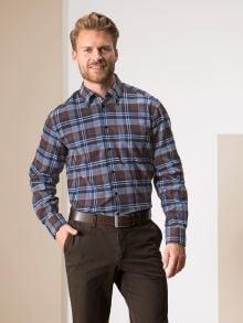 Softflanell-Hemd Walbusch-Kragen