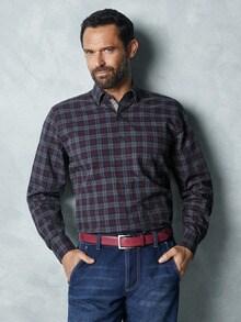 Softcotton-Hemd Tweed-Optik