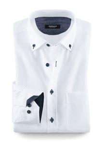Softcotton-Hemd Weiß Detail 1