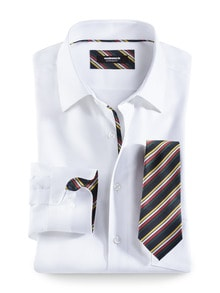 Extraglatt-Krawatten-Hemd Oxford