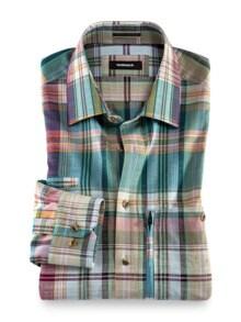 10-Taschen-Safarihemd Madraskaro Detail 1
