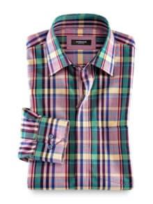 Reißverschluss-Hemd Easycare