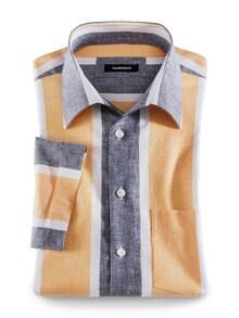 Leinenmix-Stretch-Hemd