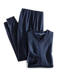Bündchen-Pyjama Krawatteria