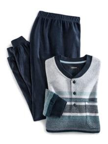Frottee-Schlafanzug Winterwarm