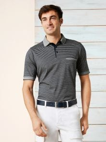 Soft- Cotton Polo Premium Grau Detail 1