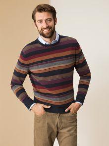 Wollpullover Männerstreifen
