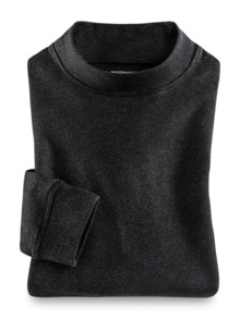 Langarm-Shirt Stehkragen