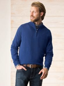 Zip-Troyer Cotton/Cashmere