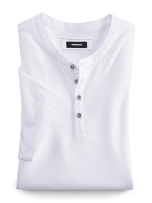 Henley Shirt Kurzarm