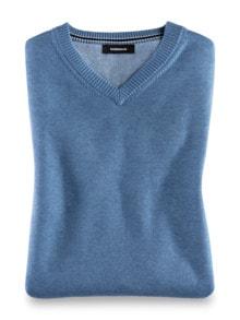 Pullunder Soft Cotton Azurblau Detail 1