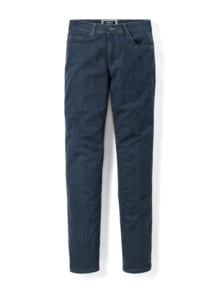 Jogger-Jeans Five Pocket Glencheck Marine Detail 1