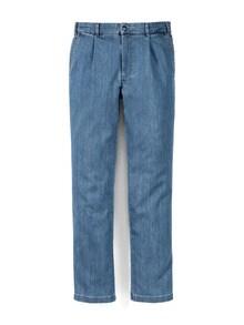 Bundfalten-Tiefbund-Jeans T400