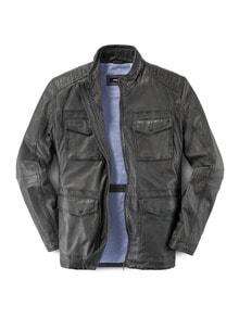 9-Taschen Lederjacke