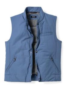 Outdoor-Weste Gentleman Mittelblau Detail 1