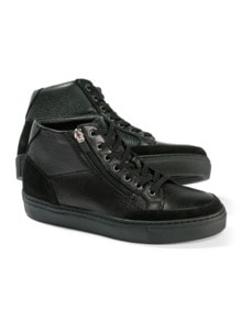 Hirschleder Sneaker High-Top Schwarz Detail 1