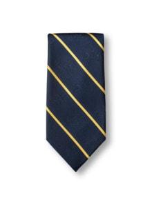 Walbusch-Krawatte Streifen Blau Detail 1