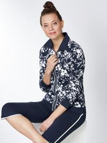 Sweatshirtjacke Blumenpracht