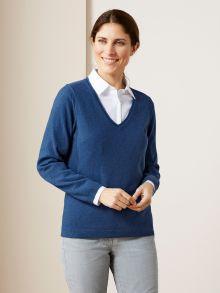 Lambswool-Pullover V-Ausschnitt