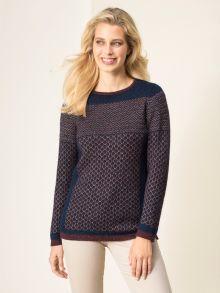 Jacquard-Pullover Seidenstrasse