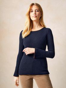 Rippen Pullover Schurwollmix