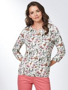 Blouson-Shirt Blumenwiese