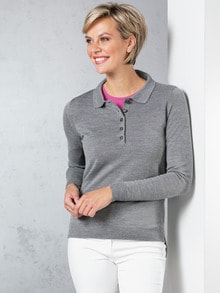 Merino-Mix Polo-Pullover