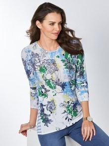 Leicht-Pullover Blumenringel