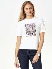 Künstler T-Shirt Alex Weiß Detail 1