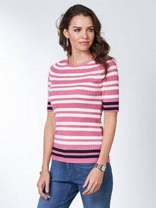 Strickshirt Pima Cotton Streifen