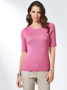 Strickshirt Pima-Cotton Uni