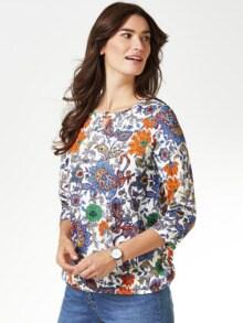 Blouson-Shirt Blumen-Paisley