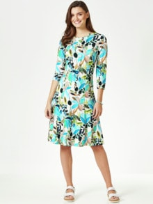 Jerseykleid Tropenblumen