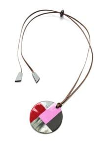 Hornanhänger Grafikdesign Pink/Rot Detail 1
