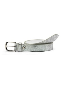 Ledergürtel Metallic