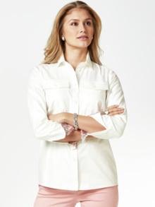 Pima-Cotton-Hemdbluse Palme