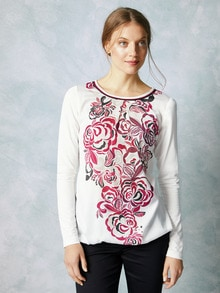 Shirtbluse Winterrose