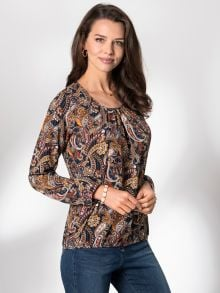 Blousonbluse Winterpaisley