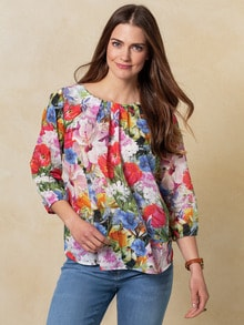 Shirtbluse Sommerblüten