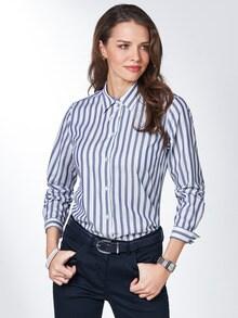 Extraglatt Pima-Cotton Hemdbluse